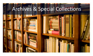 Archives and Special Collections Books on Shelf