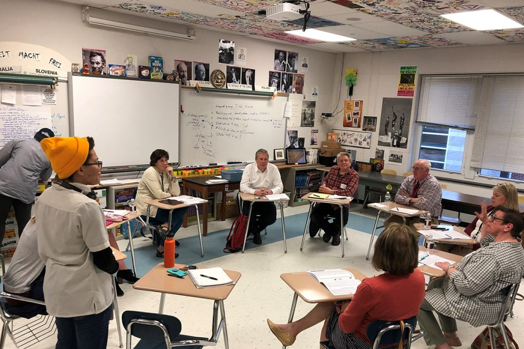 Students and Parents in Classroom Dialogue