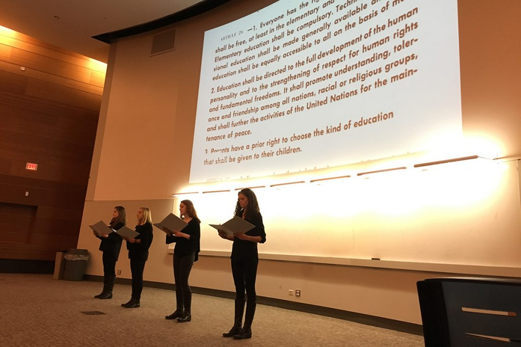 Students Read Universal Declaration of Human Rights